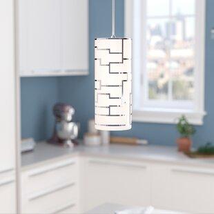 Orren Ellis Robby 1-Light Cylinder Pendant
