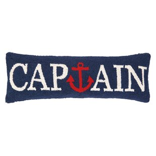 Leisa Captain Anchor Wool Lumbar Pillow