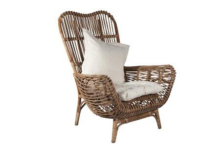 Brilliant Ibolili Round Back Rattan Chair Short Links Chair Design For Home Short Linksinfo