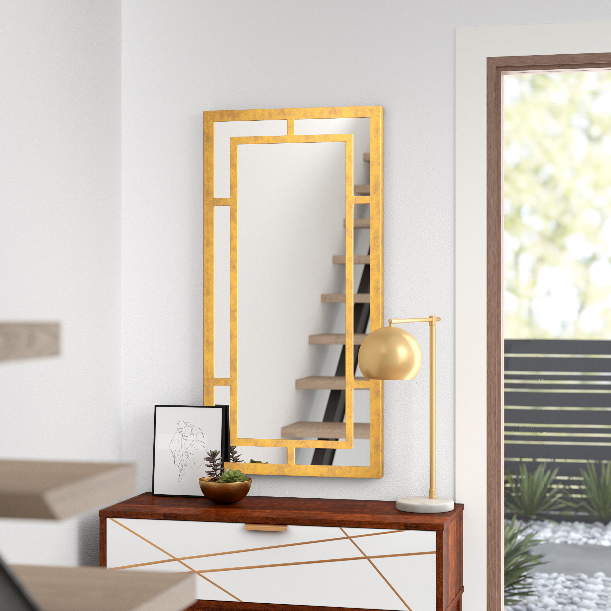Harmond Modern And Contemporary Accent Mirror Reviews Allmodern