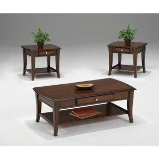 Bernards Broadway 3 Piece Coffee Table Set