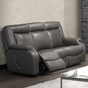 Jesse Leather Reclining Sofa by Relaxon