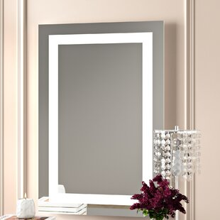 Rectangle LED Lighted Wall Mirror By Willa Arlo Interiors