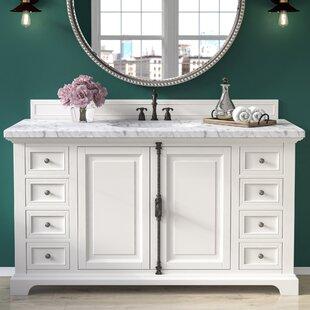 Ogallala 60 Single Undermount Sink Cottage White Bathroom Vanity Set by Greyleigh