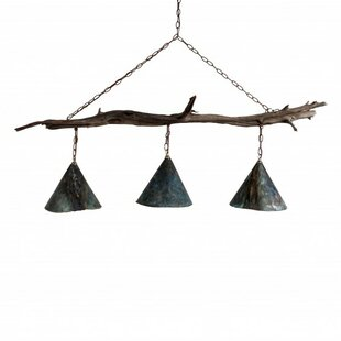 The Brays Island Driftwood 3-Light Pendant by Lowcountry Originals