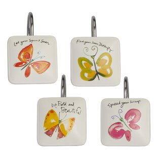Flutterby Shower Curtain Hooks