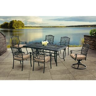 Sunjoy Legacy 7 Piece Dining Set with Cus..