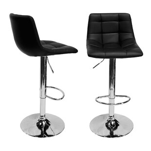 Haeli Adjustable Height Swivel Bar Stool (Set of 2) Orren Ellis