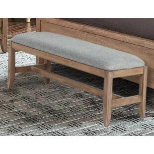 Gracie Oaks Hillam Wood Bench