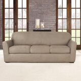 Ultimate Heavyweight Stretch Leather 4 Piece Box Cushion Sofa Slipcover Set by Sure Fit