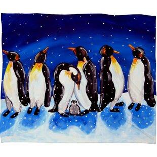 Renie Britenbucher Penguin Party Plush Fleece Throw Blanket 34c3e5e78