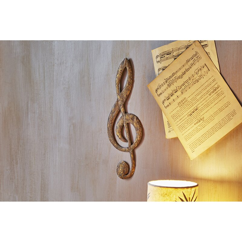 Traditional Music Note Metal Wall Decor