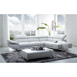 Wade Logan Centralia Leather Sectional