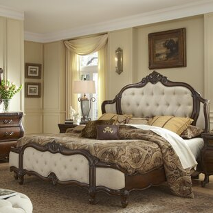 Lavelle Wing Mansion Upholstered Platform Bed