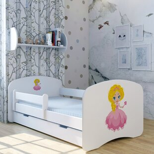 Princess Mila Bed With Mattress And Drawer By Zoomie Kids