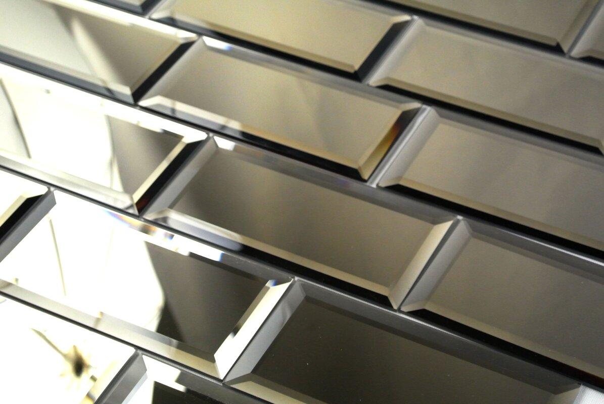 Abolos echo 3 x 6 mirror glass peel stick subway tile in gold echo 3 x 6 mirror glass peel stick subway dailygadgetfo Images