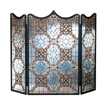 Phenomenal Chloe Lighting Dragonfly 3 Panel Metal Fireplace Screen Home Interior And Landscaping Ologienasavecom