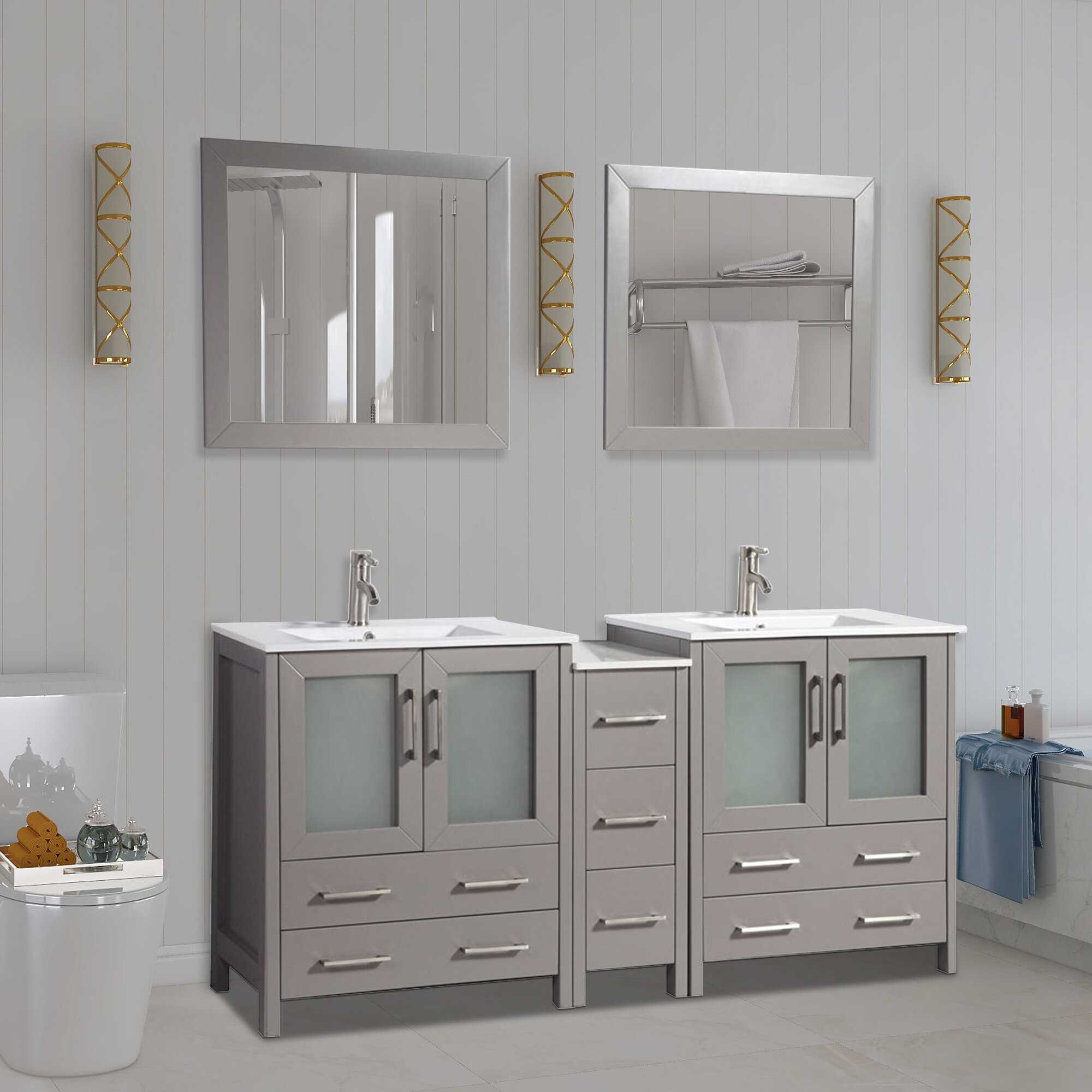 Hers Ceramic Knobs Pulls Kitchen Drawer Cabinet Vanity Closet 318 Furniture Door