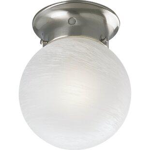 Winston Porter Ismenia Glass Globe Semi Flush Mount