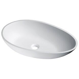 ANZZI Anoda Plastic Oval Vessel Bathroom Sink