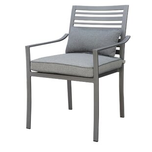 Laux Aluminum Frame Patio Chair with Cushion (Set of 4)