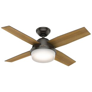 Best Reviews 44 Dempsey 4 Blade LED Ceiling Fan with Remote By Hunter Fan