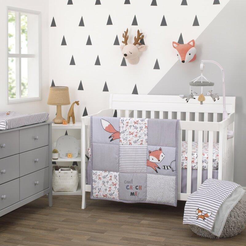 Isabelle Max Vandergriff Fox Nursery 3 Piece Crib Bedding Set Wayfair
