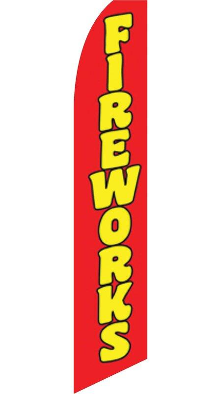 Neoplex Fireworks Polyester 138 X 30 In Feather Banner Wayfair