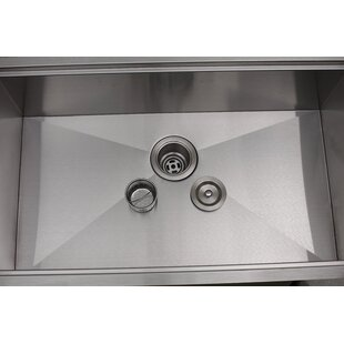 Princess All-in-One 32 L x 10 W Undermount Kitchen Sink with Basket Strainer By Empire Industries