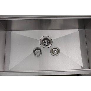 Princess All-in-One 32 L x 10 W Undermount Kitchen Sink with Basket Strainer ByEmpire Industries