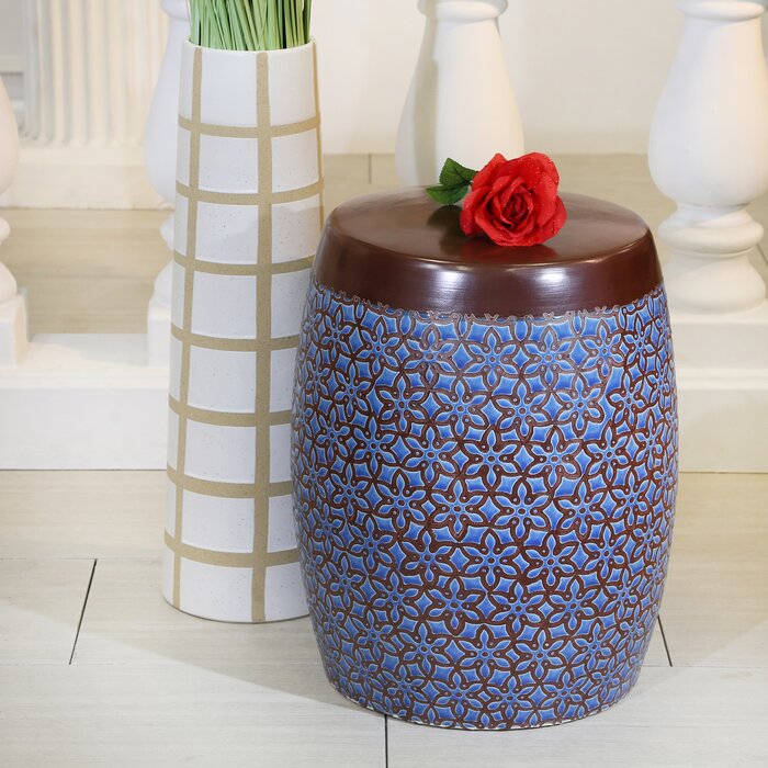 Terrific Zaytoune Floral Ceramic Garden Stool Caraccident5 Cool Chair Designs And Ideas Caraccident5Info