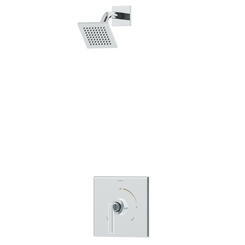 Symmons Duro 1-Handle Shower Valve Faucet Trim Kit with Square ...