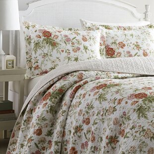 Breezy 100% Cotton Reversible Quilt Set by Laura Ashley Home