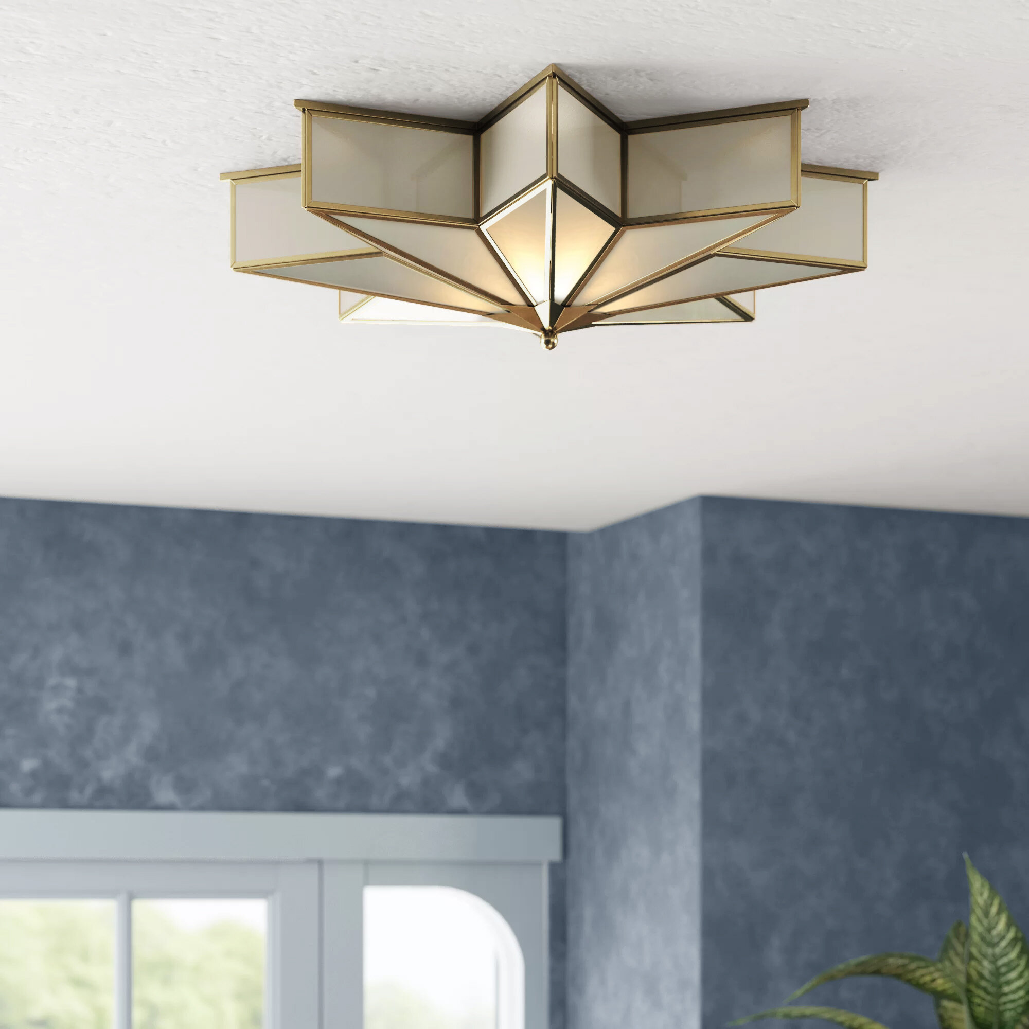 Aspenson 3 Light 21 Unique Statement Star Flush Mount Reviews Birch Lane