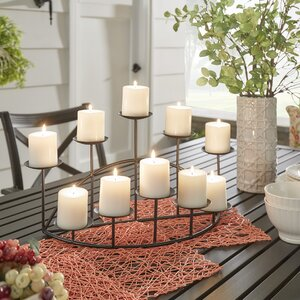 Metal Ten Candle Candelabra Set