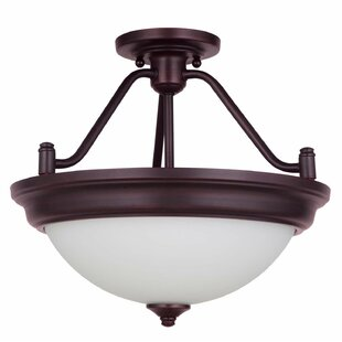Byron 2-Light Convertible Semi Flush Mount by Charlton Home