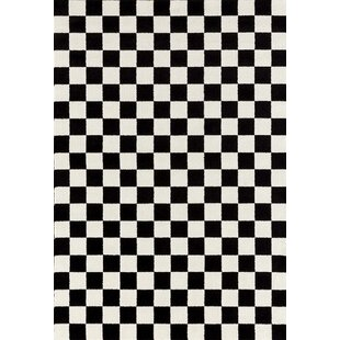 Carpenter Checkered Black White Area Rug