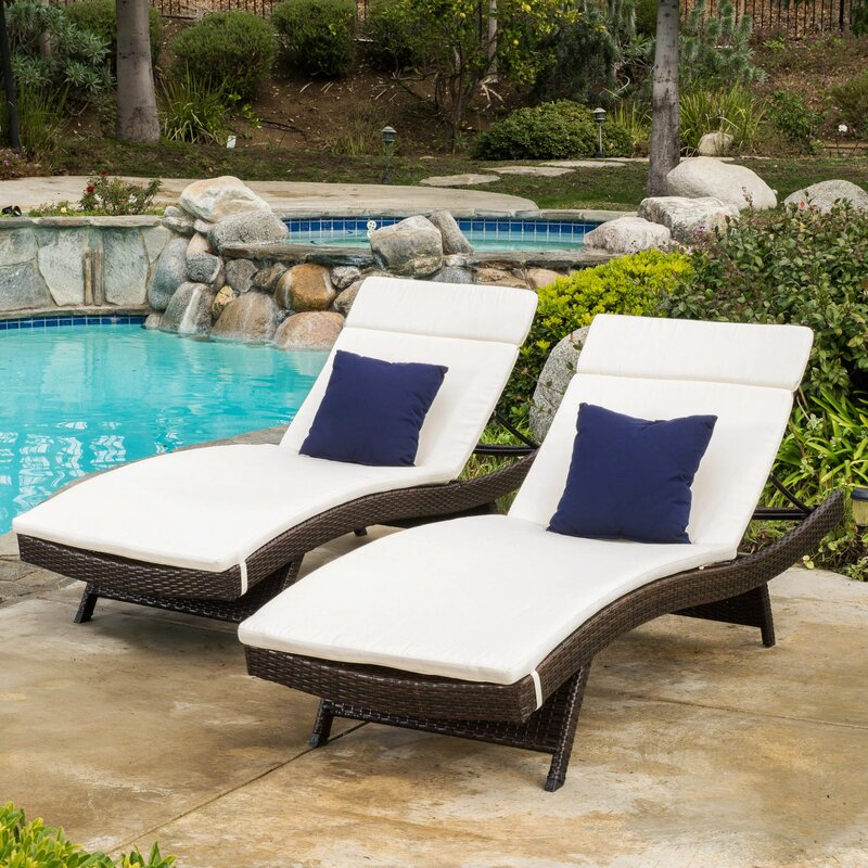 Tallulah Down Indoor Outdoor Chaise Lounge Cushion