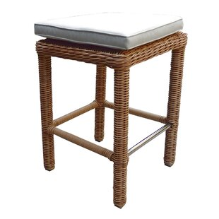 Highland Dunes Brokaw Patio Bar Stool with Cushion