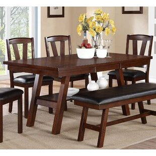 Millwood Pines Ebony Solid Wood Dining Table
