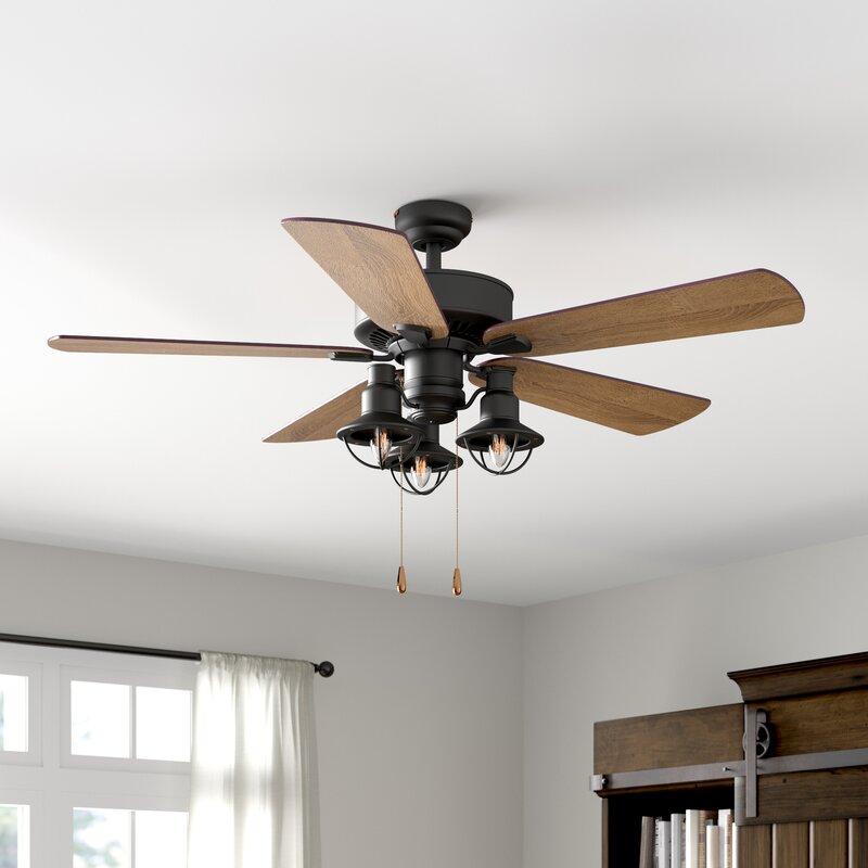 Laurel Foundry Modern Farmhouse 52 Chaz 5 Blade Standard Ceiling Fan With Light Kit Included Reviews Wayfair