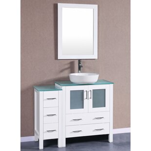 Review 42 Single Vanity Set with Mirror by Bosconi