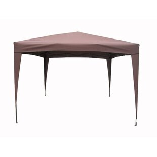 East End Patio 10 Ft. W x 10 Ft. D Steel Pop-Up Canopy by LB International