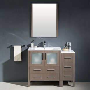 Torino 42 Single Modern Bathroom Vanity Set with Mirror by Fresca