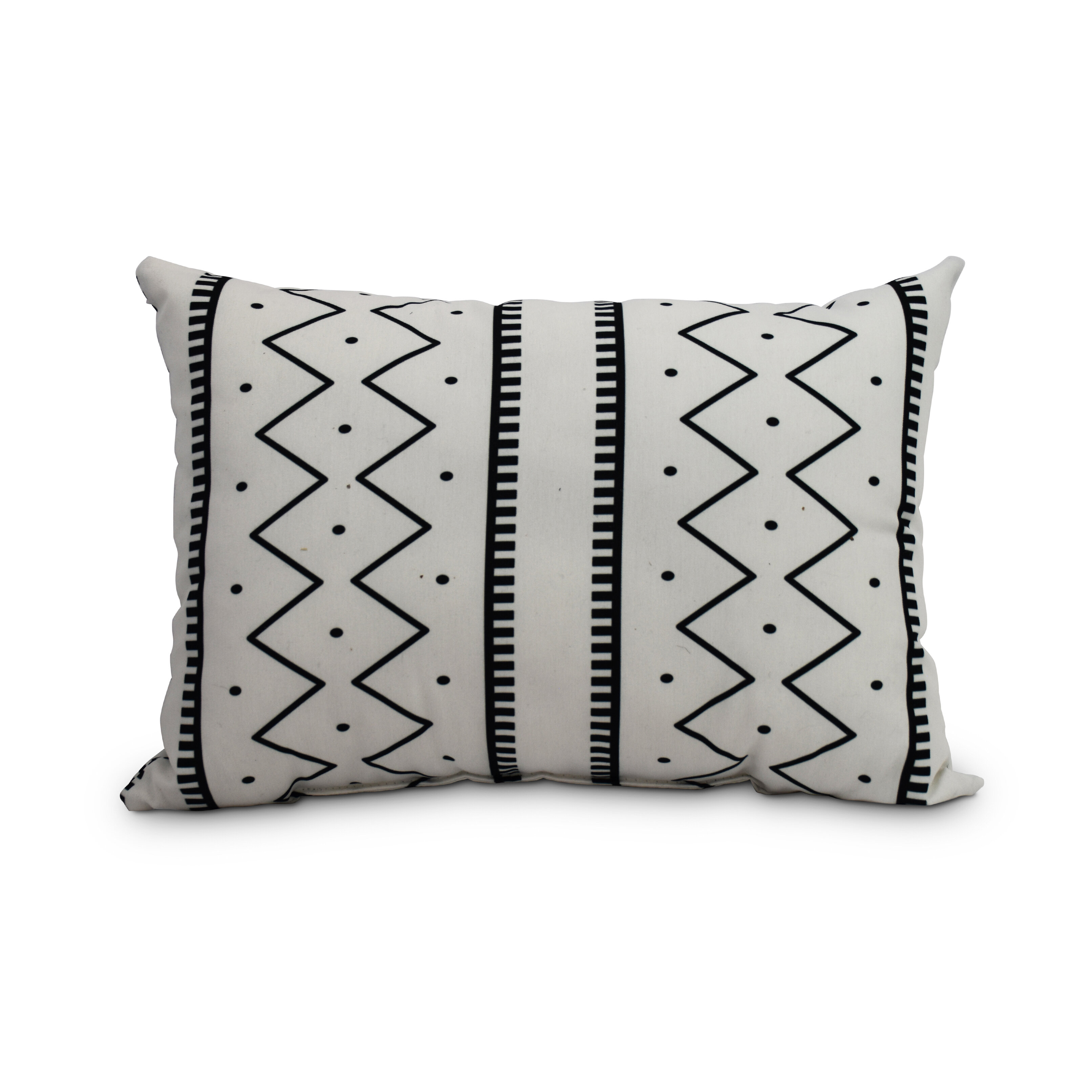 Union Rustic Odaniel Mudcloth Abstract Decorative Indoor Outdoor Lumbar Pillow Wayfair
