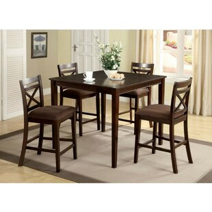 Pires 5 Piece Pub Table Set Charlton Home