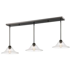 Clayton 3-Light Metal Kitchen Island Pendant