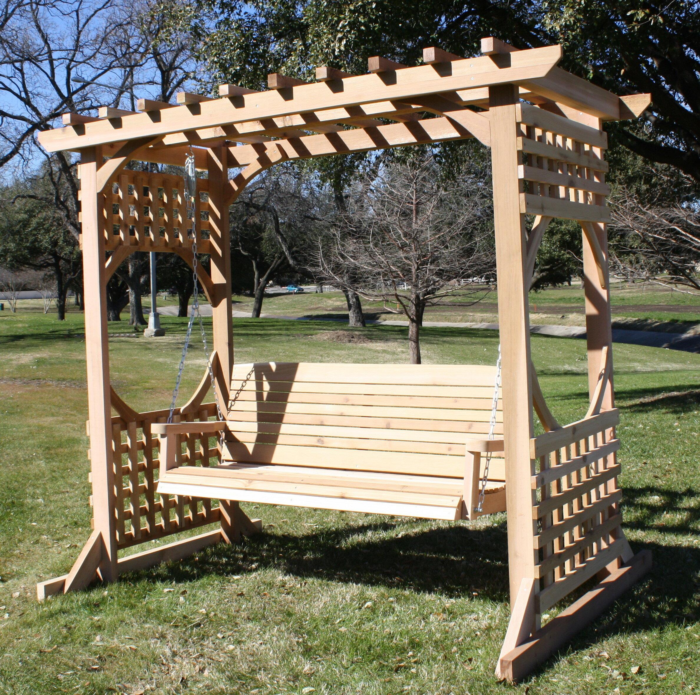 Merveilleux Donath Cedar Arbor Porch Swing With Stand