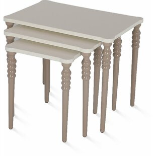 Oubre Lightweight Stackable Rectangular 3 Piece Nesting Tables by Canora Grey