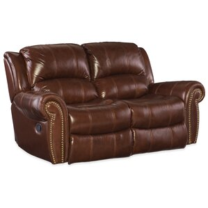 Leather Reclining Loveseat by Hooker Furniture